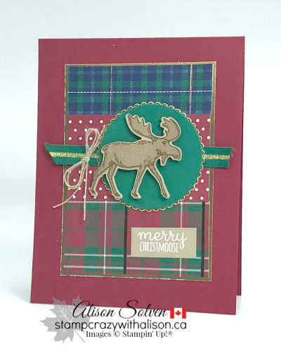 Merry Moose Stamp Set 2 www.stampcrazywithalison.com