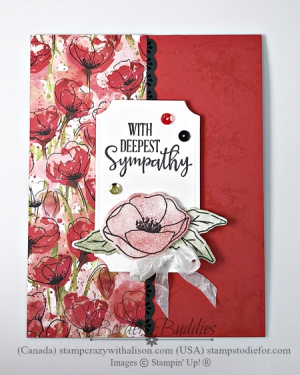 January Peacful Poppies Suite Painted Poppies Stamp Set by Stampin Up flat