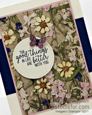 Sunday Sketches Card Sketch Pressed Petals Paper by Stampin' Up!  May 12 2020 slant