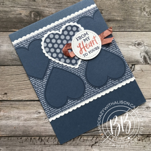 A card CASE from page 75 using the Heartfelt stamp set by Stampin' Up!®