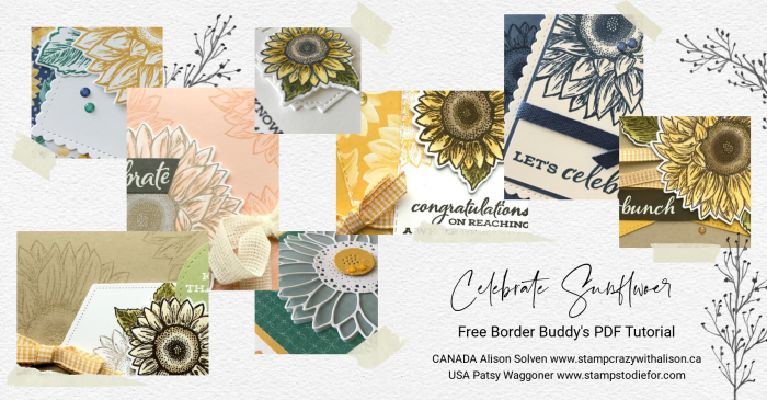 October PDF Tutorial Celebrate Sunflowers Collage