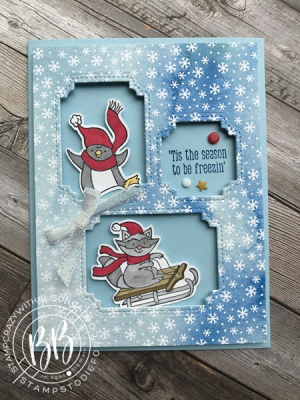 Just in CASE card pg 67 Mini Catalog featuring the Freezin' Fun Stamp Set by Stampin' Up!