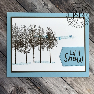 Winter Woods Stamp Set by Stampin' Up! Let it snow card