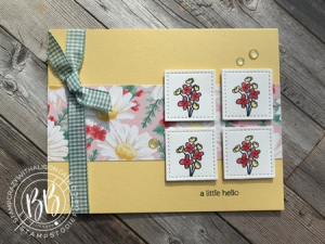 Sunday Sketches card sketches by Border Buddy's Alison Solven and Patsy Waggoner Bloom & Grow Stamp Set products by Stampin' Up! cc