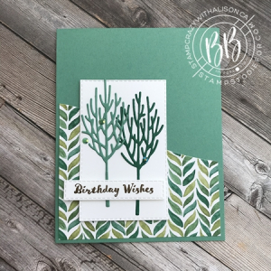 Winter Woods Stamp Set by Stampin' Up! Birthday Card
