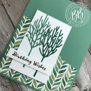 Winter Woods Stamp Set by Stampin' Up! Birthday Card 2