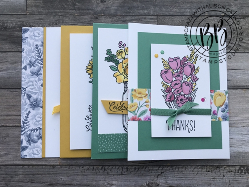 June 2020 Take and Make Card Kit Jar of Flowers Projects