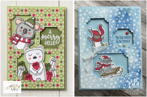 Just in CASE card pg 67 Mini Catalog featuring the Freezin' Fun Stamp Set by Stampin' Up! 1