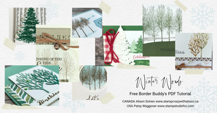 Winter Woods Collage December PDF Tutorial