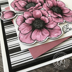 Valentine card createad using the True Love Designer Paper & Always In My Heart Stamp Set by Stampin' Up! 3