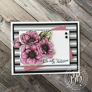 Valentine card createad using the True Love Designer Paper & Always In My Heart Stamp Set by Stampin' Up!
