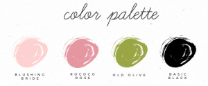 Color Palette using Stampin' Up! colors