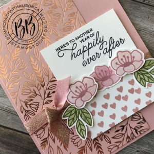Anniversary card created using the Always in MY Heart Stamp Set & Love You Always Specialty Paper by Stampin Up! 3