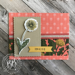Card created using Garden Wishes stamp set by Stampin' Up!