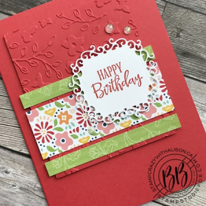 Just in CASE (copy and selectively edit) series card using the Peaceful Moments stamp set  Pattern Party DSP and Ornate Frames Dies by Stampin' Up! (2)
