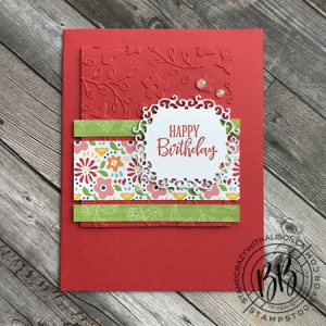 Just in CASE (copy and selectively edit) series card using the Peaceful Moments stamp set  Pattern Party DSP and Ornate Frames Dies by Stampin' Up! (3)