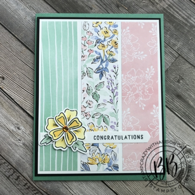 Sunday Sketch Card using the Flowers of Friendship stamp set Hand Penned Designer Paper and Flowers and Laves Punch and the Messages Dies by Stampin' Up! (3)