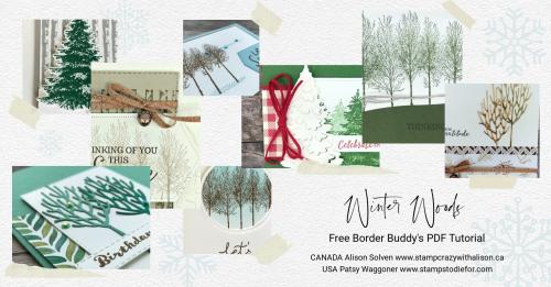 Winter Woods Collage December PDF Tutorial