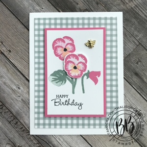 Border Buddy Monthly Free PDF Tutorial featuring the Pansy Petals Suite by Stampin' Up! Pansy Patch Stamp Set (5)
