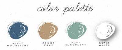 Natures Harvest card Stampin' Up! color palette