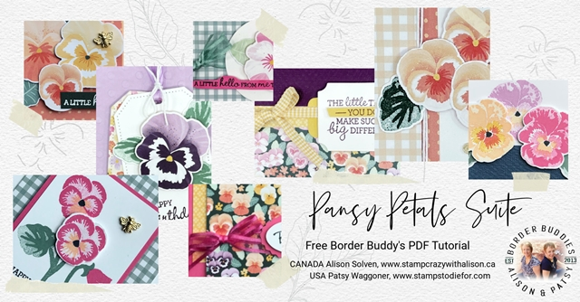 Pansy Petals Suite by Stampin' Up! Collage