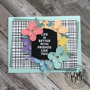 Just in CASE (copy and selectively edit) series card using the Flowers of Friendship stamp set and Pierced Blooms & Tateful Labels Dies by Stampin' Up! (2)