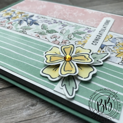Sunday Sketch Card using the Flowers of Friendship stamp set Hand Penned Designer Paper and Flowers and Laves Punch and the Messages Dies by Stampin' Up!