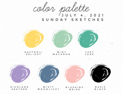 Sunday Sketches Color Palette Stampin' Up! Colors