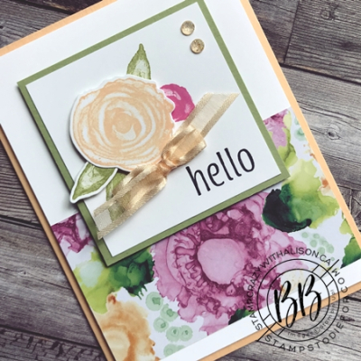 Expressions in Ink Suite by Stampin' Up!  card features Artistically Inked Stamp Set and Artistic Dies and the Designer Series Paper 2