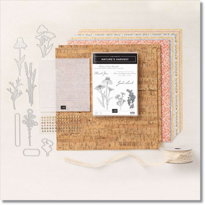 Items included in the Harvest Meadow Suite collection by Stampin Up